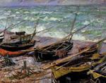 tablou claude monet   fishing boats, 1885