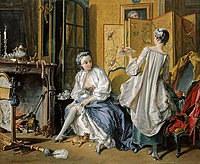 tablou francois boucher - dressing (1742)