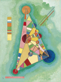tablou kandinsky - colorful in the triangle