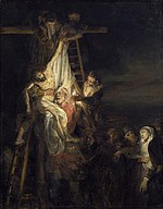 tablou rembrandt - descent from the cross (1650)