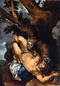 tablou rubens - prometheus bound (1610)