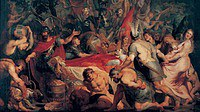 tablou rubens- history of decius musa 6. the funeral of publius decius musa (1617)