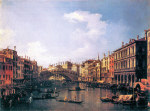 Tablou Canaletto-The Rialto Bridge from the south