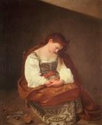 tablou Caravaggio - Penitent Magdalene