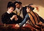 tablou Caravaggio - Cardsharps (1597)