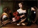 tablou Caravaggio - Martha and Mary Magdalene
