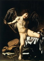 tablou Caravaggio - Cupidon, 1601