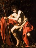 tablou Caravaggio - Saint John the Baptist in the Wildernes