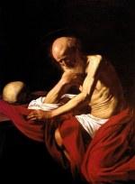 tablou Caravaggio - Saint Jerome in Meditation (1606)