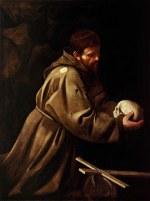 tablou Caravaggio - Saint Francis in Prayer (1606)