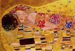 Tablou canvas Gustav Klimt - the kiss (3)