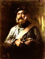 Tablou canvas Grigorescu - Paznicul
