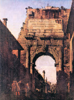 Tablou Canaletto-Titus Arch in Rome