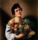 tablou Caravaggio - Boy with a Basket of Fruit, (1593).jpg