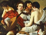 tablou Caravaggio - The Musicians (1595)