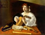 tablou Caravaggio - The lute player