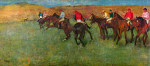 tablou Degas-Horse race before the start