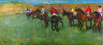 tablou Degas-Horse racing before starting