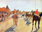 tablou Degas-Jockeys in front of the grandstand