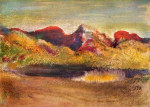 tablou Degas-Lake and mountains