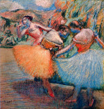 tablou Degas-Three dancers 1