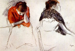 tablou Degas-Two women seated