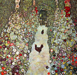 Tablou canvas Gustav Klimt - Garden Path with Chickens