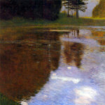 Tablou canvas Gustav Klimt - Lake in front of the Castle