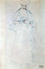 Tablou canvas Gustav Klimt - Lesendes girls