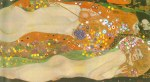 Tablou canvas Gustav Klimt - Water snakes II