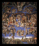 tablou Michelangelo - Last Judgment