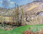 Tablou canvas Monet - Winter landscape at the Val de Falaise