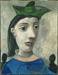 tablou Picasso - Donna con capello verde