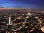 tablou Paris night view