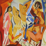Tablou canvas Picasso - Demoiselles Davignon