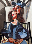 Tablou canvas Picasso - Girl in chair
