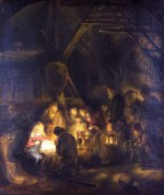 tablou Rembrandt - The adoration of the shepherds