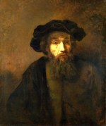 tablou Rembrandt - A bearded man in a cap