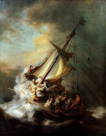 tablou Rembrandt - Crist in the storm