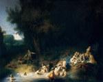tablou Rembrandt - Diana bathing