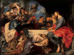 tablou Rubens - Feast of Simon the pharisee