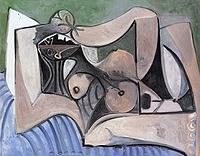 Tablou canvas picasso - femme nue couche