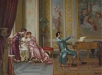 tablou vittorio reggianini - la romanza preferita