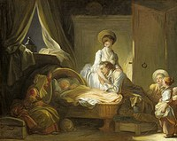 tablou jean honore fragonard - the visit to the nursery (1775)