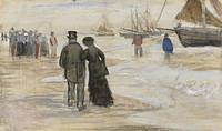 tablou van gogh - the beach at scheveningen
