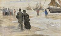Tablou canvas van gogh - the beach at scheveningen