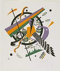 tablou vasily kandinsky - small worlds iv from the portfolio small worlds