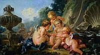 tablou francois boucher - cupids (1740)