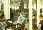 tablou 1877  edgar degas - femmes devant un cafe