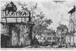 tablou piranesi - roma antica, alb negru 22
